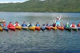 kayaking for BOW on Lake George