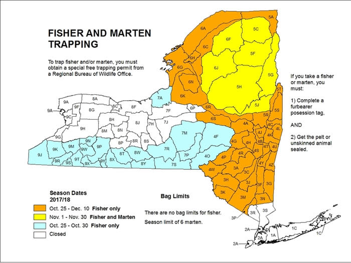 Season Dates for Fisher and Marten Trapping